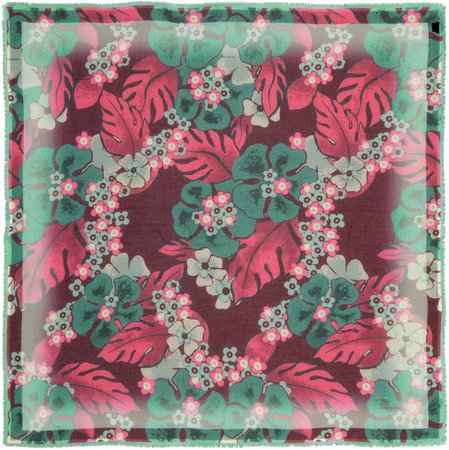 Floral Silk Blend Scarf