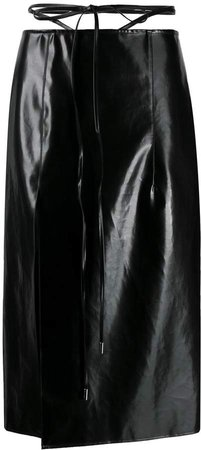 Waist String Midi Skirt