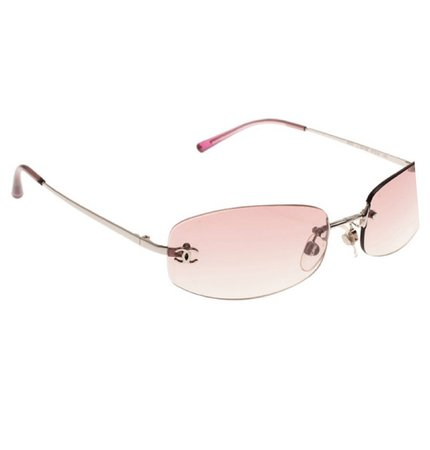 y2k pink chanel sunglasess