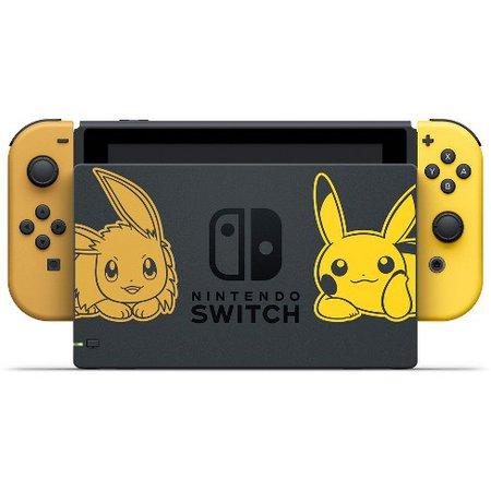 Nintendo Switch Pikachu & Eevee Edition With Pokemon: Let's Go Pikachu! Bundle : Target