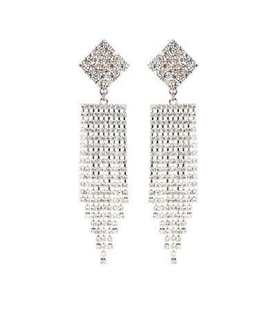 Crystal Waterfall Clip-On Earrings - Alessandra Rich | mytheresa.com