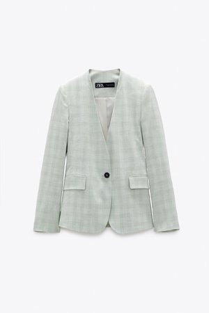 TAILORED PLAID BLAZER | ZARA United States green