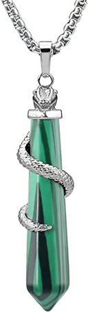 Green Crystal Snake Necklace