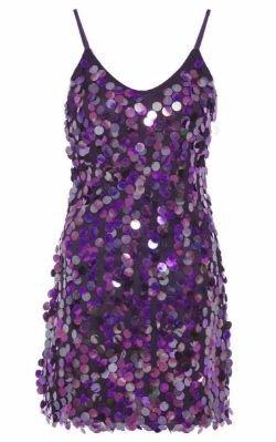 Sequinned Purple Dress