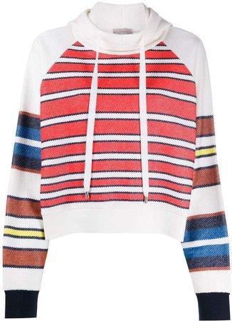 Mrz Striped Drawstring Hoodie
