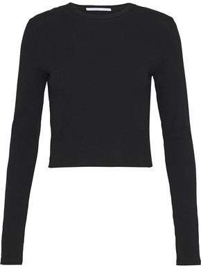 Cropped Cotton-jersey Top