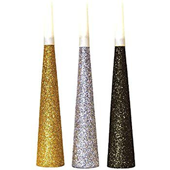 Amazon.com: New Year's Party Glitter Paper Horn Noisemaker | Supply: Toys & Games