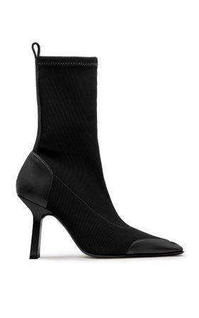 Noelle Leather-Trimmed Stretch-Knit Boots By Miista   Moda Operandi