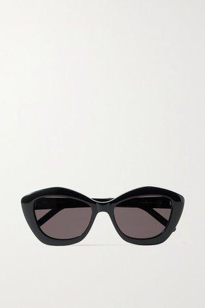 Black Cat-eye acetate sunglasses | SAINT LAURENT | NET-A-PORTER