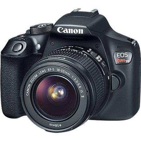 Black EOS Rebel T6 EF-S IS Digital Camera with 18 Megapixels and 18-55mm Lens Included - Walmart.com - Walmart.com