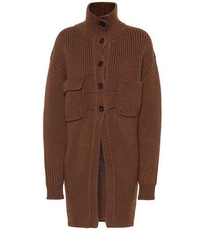 Wool-blend cardigan