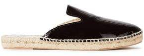 Patent-leather Espadrille Slippers