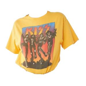 Yellow KISS Shirt Top Band