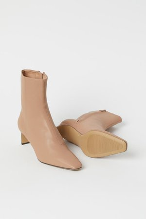 Ankle boots - Beige - Ladies   H&M