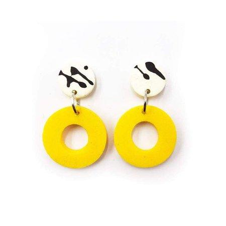 earrings yellow black - Google 検索