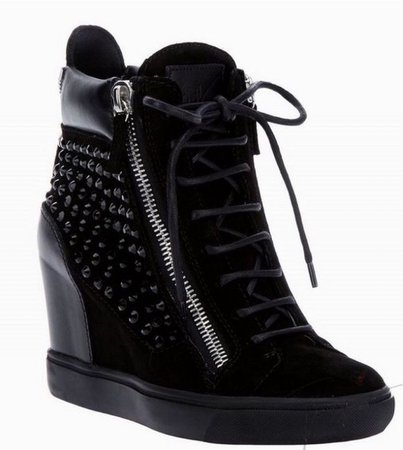 Giuseppe Zanotti wedged sneakers (black)