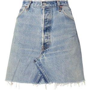 Core Denim Mini Skirt