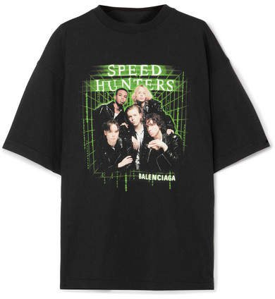 Speed Hunters Printed Cotton-jersey T-shirt - Black