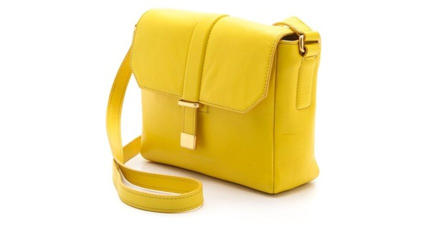 yellow messenger bag