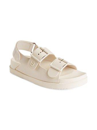 Gucci GG Rubber Sandals   SaksFifthAvenue