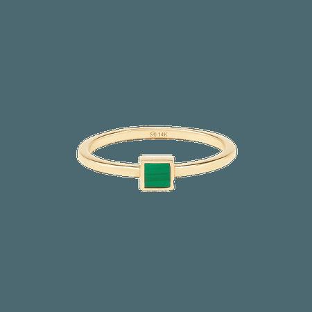 Malachite Square Ring   Mejuri