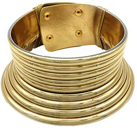 Amazon.com: Aijian African Jewelry Statement Chokers Egypt Gold Tone Choker Women Chunky Leather Collar Necklace (A-Gold): Arts, Crafts & Sewing