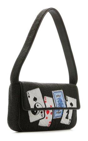 Tommy Beaded Leather Shoulder Bag By Staud | Moda Operandi