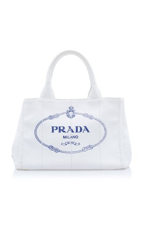 Small Cotton Canvas Tote by Prada | Moda Operandi