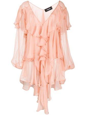 Dsquared2 Ruffled Mini Dress - Farfetch