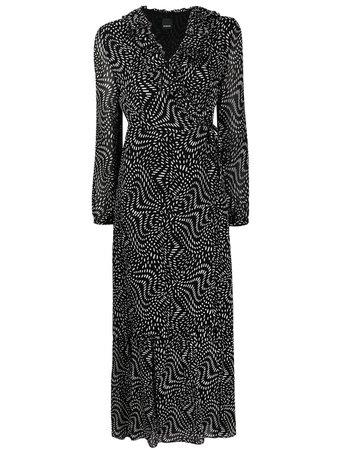 Pinko платье в горох с запахом -50%- купить в интернет магазине в Москве   Цены, Фото.