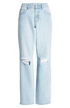 Ripped Straight Leg Jeans | Nordstrom