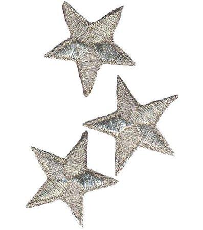 silver fabric stars