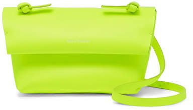 Mini Neon Leather Shoulder Bag - Yellow