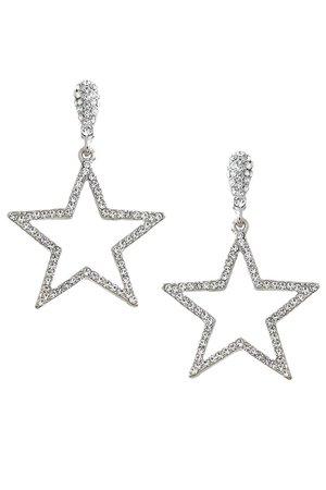 Open star earings