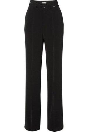 Balenciaga - Stretch-crepe Straight-leg Pants - Black ($1090)