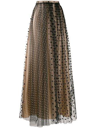 Nº21, Polka Dot Maxi Skirt