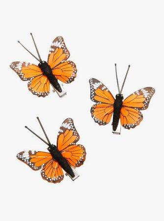 Blackheart Monarch Butterfly Hair Clip Set