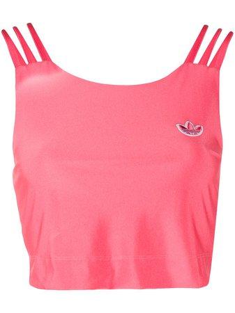 Pink adidas trefoil cropped tank top FU3843 - Farfetch