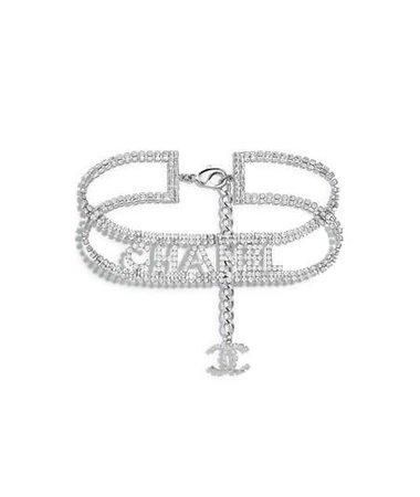 Chanel Silver Choker