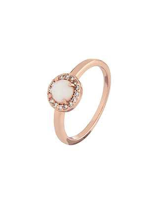 Rose-Gold Plated Verona Opal Stone Ring