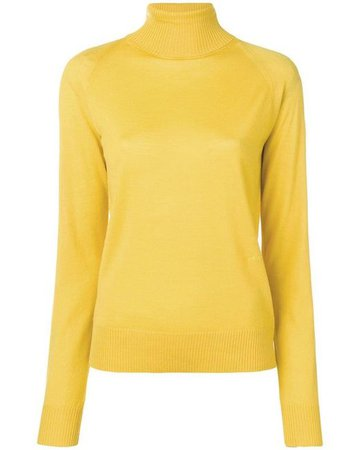 Lyst - JOSEPH Turtle Neck Jumper in Yellow