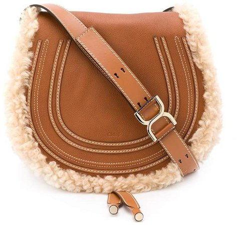 Marcie shearling trim shoulder bag