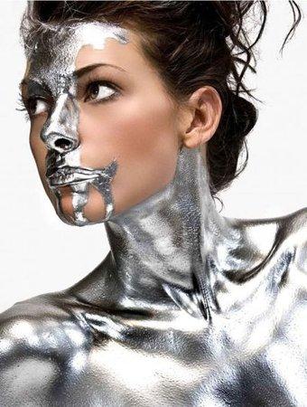 fashion model in silver - Google Search