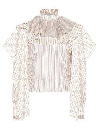 https://www.mytheresa.com/en-us/jw-anderson-striped-silk-blouse-1015546.html