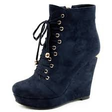 navy punk wedges - Google Search