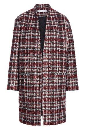 IRO Twisted Plaid Bouclé Tweed Coat | Nordstrom