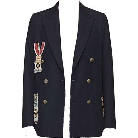 Black Blazer With Pins