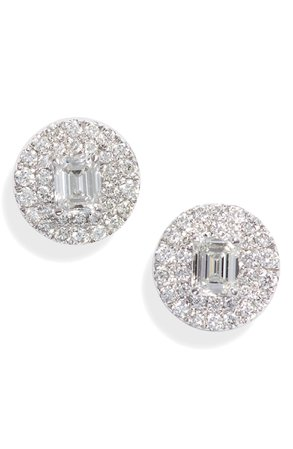 Bony Levy Bardot Mixed Diamond Stud Earrings (Nordstrom Exclusive) | Nordstrom
