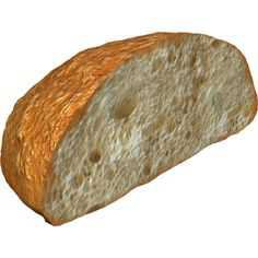 half loaf of bread