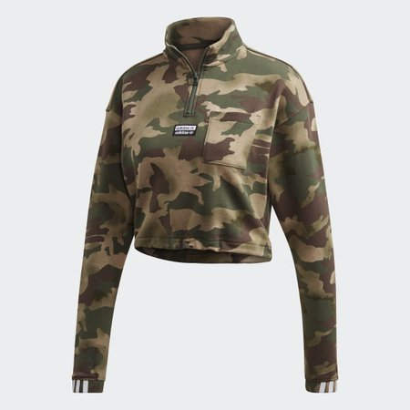 adidas Half-Zip Sweater Cropped top - Beige   adidas US